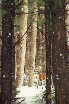 #Deer #Winter #Snow