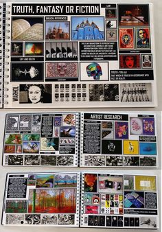 AL Graphics Graphic Communication, White Sketchbook, Brainstorm, ESA Theme 'Truth Fantasy or Fiction', A Level Sketchbook, Gcse Art Sketchbook, Sketchbooks, Photography Sketchbook, Photography Camera, Digital Photography, Photography Gels, Photography Reflector, Advanced Photography