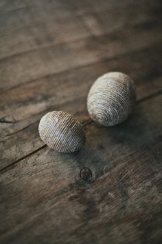 Rustic, linen-wrapped eggs you can leave out year-round. #etsy