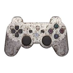 PS3 controller  Wireless Glossy  WTP-299-Water-Drops Custom Painted- Without Mods