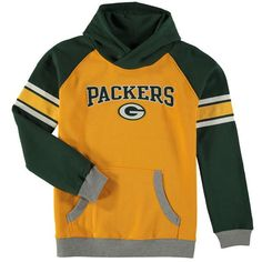 Green Bay Packers Youth Fan Gear Robust Pullover Hoodie - Yellow/Green - $49.99