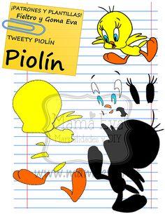 Plantillas personajes dibujos animados Warner