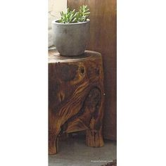 Roost Footed Wood Stool