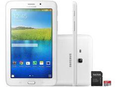 "Tablet Samsung Galaxy E Wi-Fi 7.0 8GB Tela 7"" - Android Proc. Quad Core A7 Câm. 2MP + Frontal"