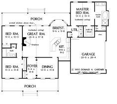 Country Floor Plan - Main Floor Plan Plan #929-222