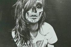 Candy skull face