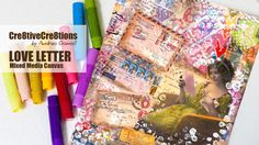 Pretty cool idea using the leftover stamps stuff.  【MIXED MEDIA CANVAS】 Love Letters, via YouTube.