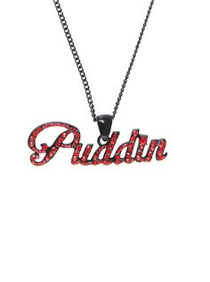 DC Comics Harley Quinn Puddin Bling Necklace, - Visit to grab an amazing super hero shirt now on sale!