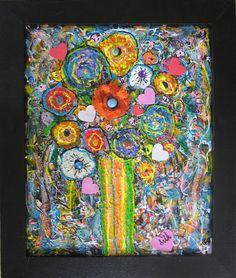 Phyllis Silk: Hearts & Flowers: Acrylic: AmazonSmile Collectibles & Fine Art---Original Artwork by Phyllis Silk---More of my art-work can be seen at OSGS Art Gallery Northwood Village--West Palm Beach Fl--Forever Art Studio on Facebook---Amazon.com---Art under my name--Wellington City Hall Gallery 2nd floor Wellington Florida All my paintings are copy written--