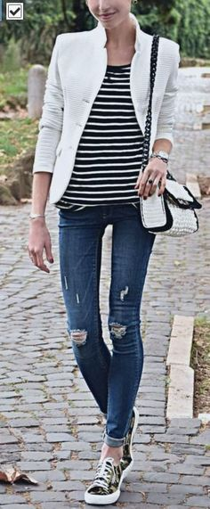 Black & White over DENIM | Coffee Blooms                                                                             Source