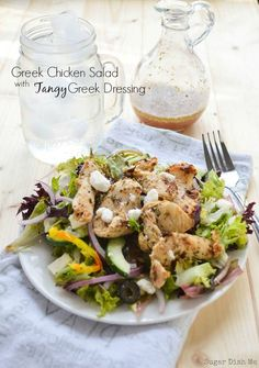Greek Chicken Salad with Tangy Greek Dressing