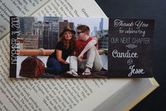Wedding Favor Bookmarks. Rustic chalkboard by JustChuggingAlong, $20.00