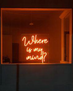 inspo custom neon quote, sign of art, where& my mind . - inspo custom neon quote, sign art, where is my mind – light art -