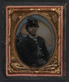 Unidentified young soldier in Union sack coat and forage cap. A photo in the Library of Congress 'Civil War Faces' collection.