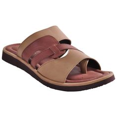 Ajanta Beige::Brown Men Sandals