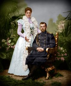 Nicholas II and Alexandra by AlixofHesse on deviantART