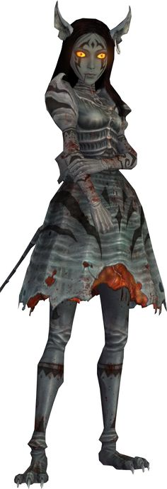 The Cheshire dress is one of Alice Liddell's outfits available as DLC. It is the only dress that changes Alice's skin color and only one of two dresses which gives her abnormal head-quality – her pierced feline ears. The dress' in-game effect is prohibiting enemies from dropping Roses. Alice's eyes and irises are yellow and her pupils are slits like Cheshire Cat's.