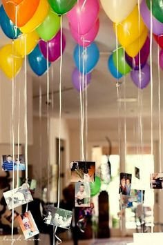 Globos y fotografías - DEF Deco | Decorar en familia
