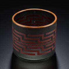 Grey Berry Basket by Preston Singletary, Tlingit artist (X121006)