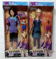 Disney Hannah Montana and Miley Stewart Barbie Fashion Doll Set #Disney