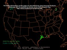 ------------  SEVERE WEATHER MAP   -------------        .