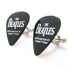 Hand Made Beatles Black Guitar Pick Cufflinks