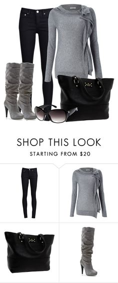 """Day after a snow with the sun"" by ohmeejean ❤ liked on Polyvore featuring THVM, Marella, Kate Spade, Michael Antonio and H&M"