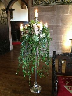150cm Silver Floor Standing Candelabra Hire Cheshire