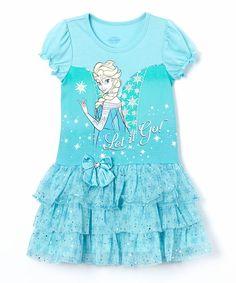 """Girls Frozen Elsa Ruffle Party Dress New with Tags Size 6 """"Let it Go"""" Kids Fancy #Disney #Dress"""
