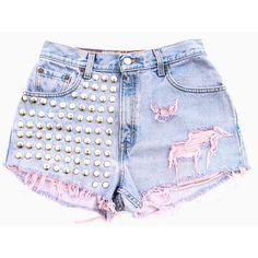 Ice Cream Sundae Shorts ($110) ❤ liked on Polyvore featuring shorts, bottoms, pants, short, short shorts and cream shorts