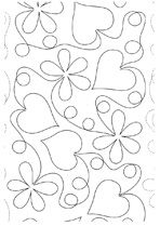 Continuous Line Quilting Designs | ... is a sample of continuous line patterns offered by Quilting Pieces