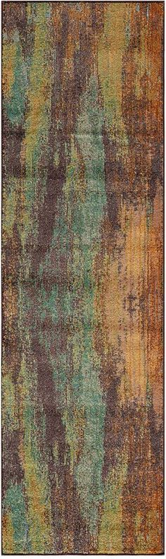 "Momeni Closeout! Modern Loom ML06 Multi 2'3"" x 7'6"" Runner Rug"
