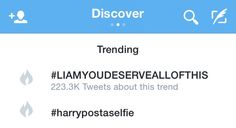 #LIAMYOUDESERVEALLOFTHIS <<<< the second hashtag is fantastic!
