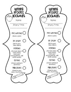 Writing Process Bookmark (Student Checklist} I like this, have them keep everything in a folder and staple it to the folder.