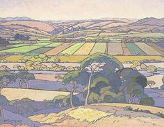 JH Pierneef An Extensive View of Farmlands