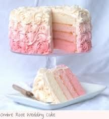 Ombre Wedding Cake, #Mitzi Jefferson ombré the inside too!!!!