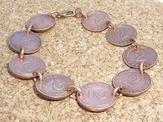 Armbänder - Armband aus 2Pfennig (DM) - ein Designerstück von schmuck-checker bei DaWanda