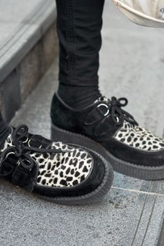 been keeping an eye out for a pair of sturdy, animal print UK creepers with a sole that isn't too thick!