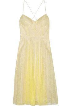 ERDEM - Lace and silk organza dress