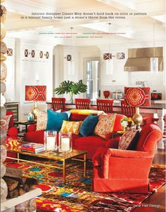 Bohemian style living room from New York Spaces