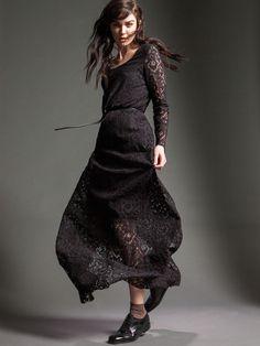 "Naughty Dog FW15 long romantic ""Sicilian Style"" lace dress"
