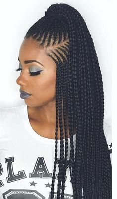 Braided Hairstyles For Black Women Cornrows, Braids Hairstyles Pictures, Cool Braid Hairstyles, African Braids Hairstyles, Twist Hairstyles, Hair Pictures, Black Women Hairstyles, Trendy Hairstyles, Ladies Hairstyles