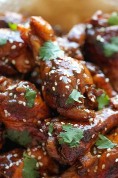 Slow Cooker Sticky Chicken Wings - Damn Delicious
