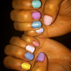 My Easter egg nails
