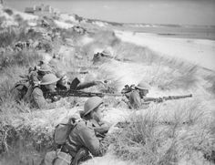 Men of 7th Battalion, The Green Howards among the sand dunes at Sandbanks, near Poole in Dorset, 31 July 1940.
