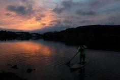 A nice spring dawn patrol paddle in the low 50's Deep Creek Lake