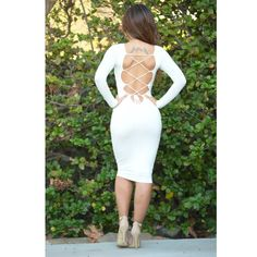 Ivory caged back dress Ivory caged back dress, great quality material, sexy club wear, party wear Fashion nova  Dresses