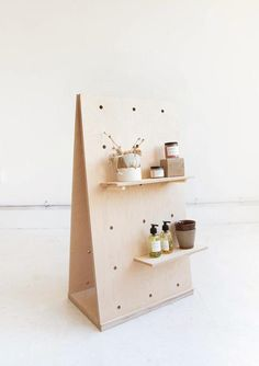A Frame Display Birch Plywood Pegboard / Freestanding Shelving / Display Unit
