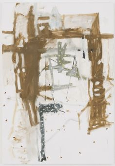 Richard Aldrich     Untitled, 2008   Oil, wax, paper and almonds on linen 84 x 58 inches 213.4 x 147.3 cm