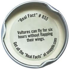 Find and Read Snapple Cap Fact #1